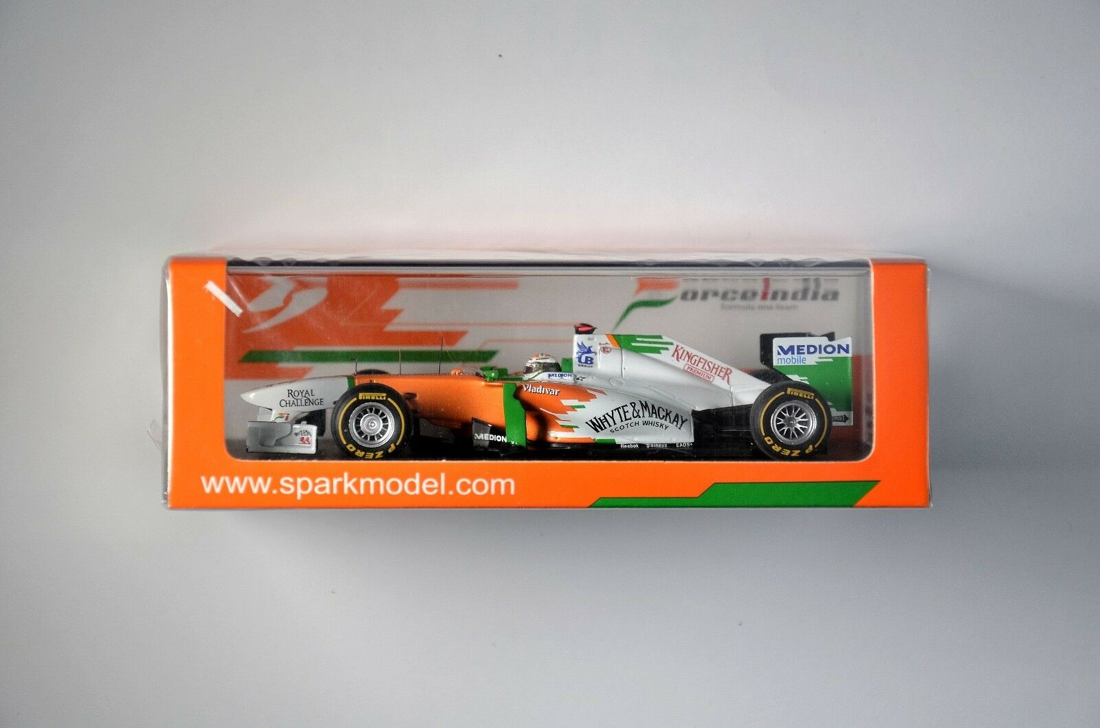 SPARK Force India VJM04 No.14 Monaco GP 2011 Subtle Adrian S3024 1 43