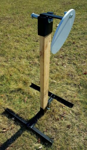 "Steel Gong Target stand et Hanger comprend 10/"" AR500 rondes en Acier Cible"