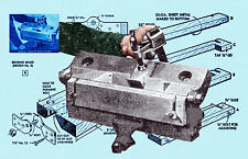 How to Build 2 SHEET SMALL Sheet  METAL Bending BRAKES  Printed article & PLANS