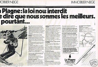 Station De Ski La Plagne Publicité Advertising 1979 2 Pages