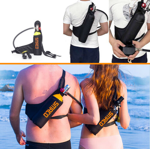 SMACO Portable 1L Air Tanks Black Scuba Dive Gear Bag Oxygen Cylinder Carry Bag