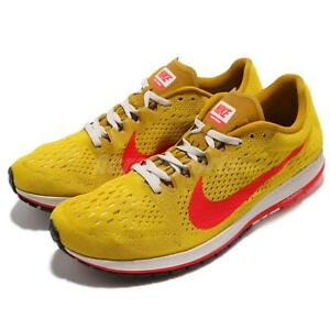 5ffb05974aad3 Nike Zoom Streak 6 VI Bright Citron Crimson Men Running Shoes ...