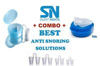Stop Snoring Mouthpiece Sleep Apnea Night Guard Tmj + 4 Nasal Dilators