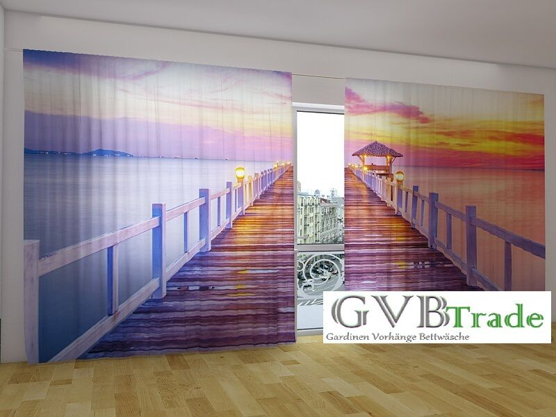 Fotogardinen Sonnenaufgang Fotovorhang Photo Curtain Vorhang Gardinen 3D Foto Foto Foto | Viele Sorten  d35f0a