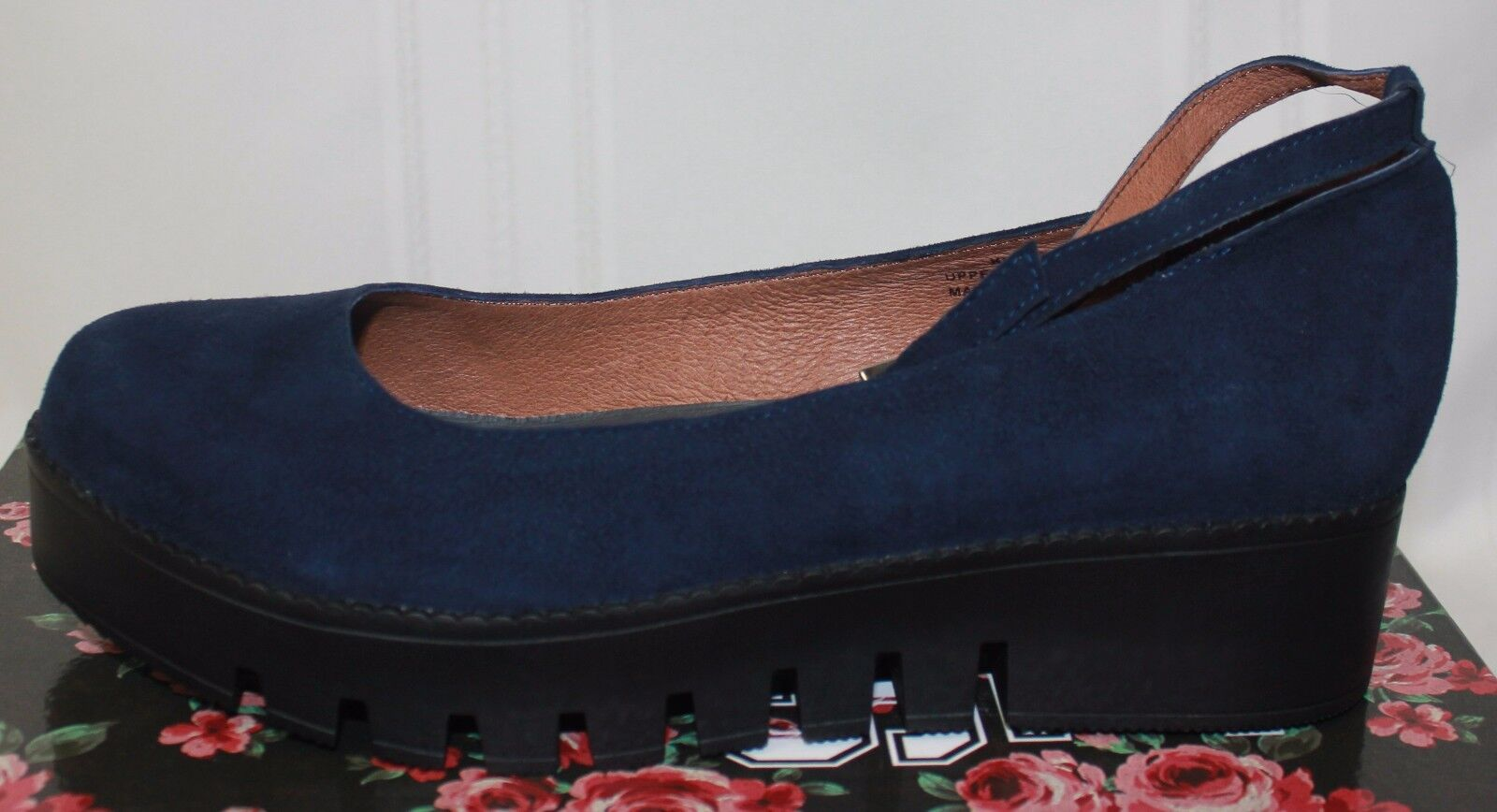 Jeffrey Campbell Campbell Campbell Kiku platform ankle strap schuhe Navy Nubuck Suede New With Box f204c5
