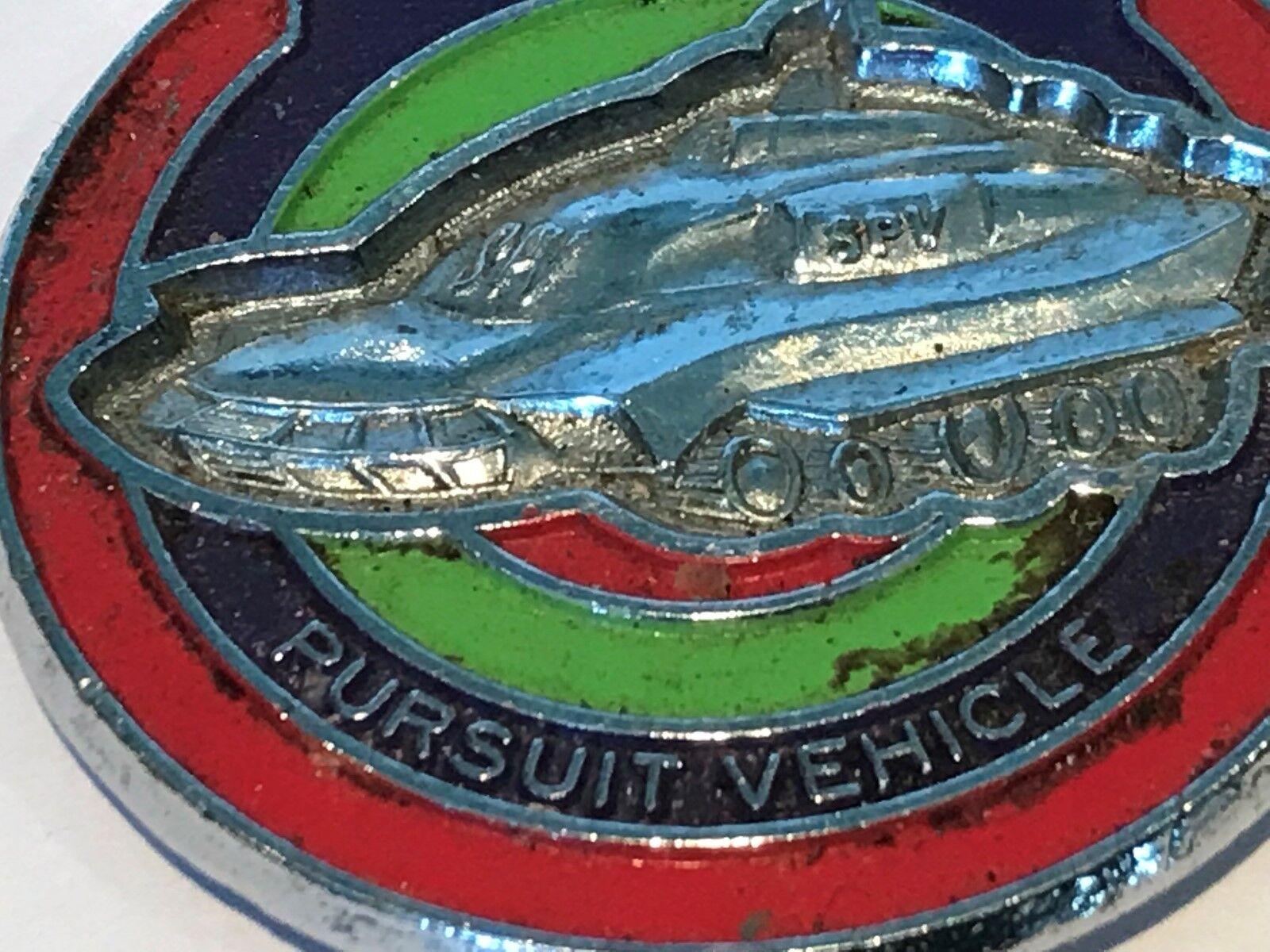 RARE RARE RARE ORIGINAL CAPTAIN SCARLET PURSUIT VEHICLE  PIN BADGE 12d9a6