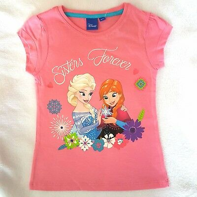 Other Intellective Disney T-shirt Manches Courtes La Reine Des Neiges 4 5 6 Ou 8 Ans Rose Neuf Bright And Translucent In Appearance