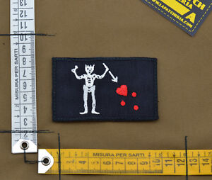 Ricamata-Embroidered-Patch-034-Blackbeard-Pirate-034-with-VELCRO-brand-hook