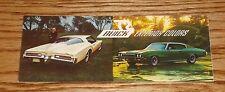 Original 1972 Buick Exterior Interior Foldout Colors Brochure 72