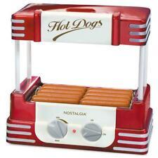 Nostalgia Hot Dog Roller Bun Warmer Adjustable Settings Stainless Steel