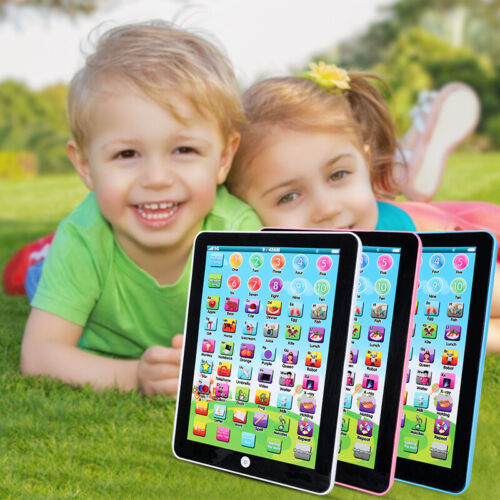 Baby Tablet Educational Game Toy English Childhood Learning Pad For Boys Girls