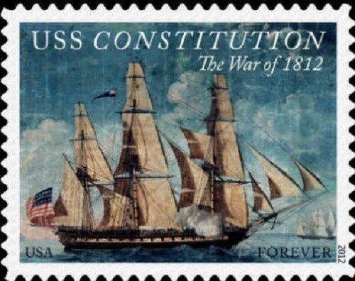 2012 45c The War of 1812: USS Constitution Scott 4703 M