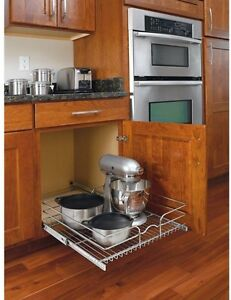 pull out wire shelves for kitchen cabinets kitchen pull out wire sliding basket rack cabinet storage 24997