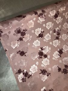 "114cm 3 mtr lilac floral jacquard dress fabric..45"" wide"