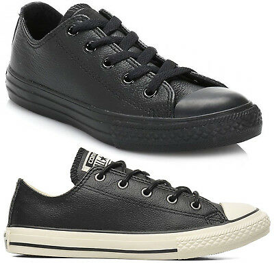 Converse Chuck Taylor All Star Ox Leather Girls Boys Kids Trainers Shoes Sizes   eBay