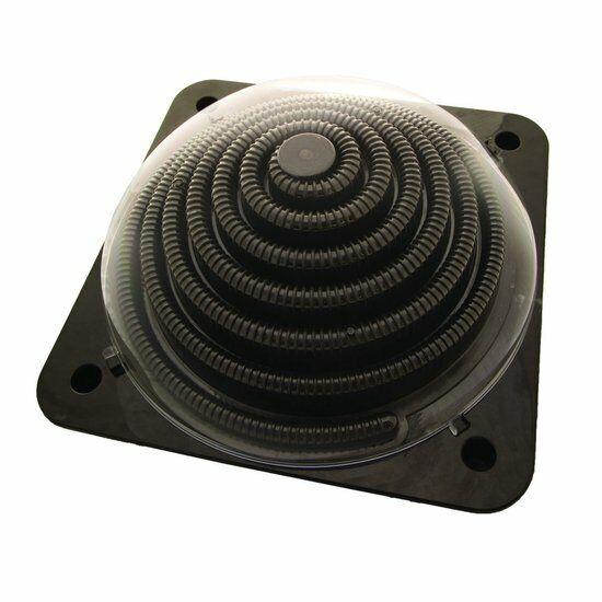 Calefacción Solar Dome Pool 5 Litros hasta 7000 Litros, Negro, 57x57cm,