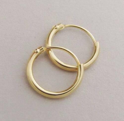 Rundrohr-Creolen 13 mm poliert K309 r-Gold 14 kt