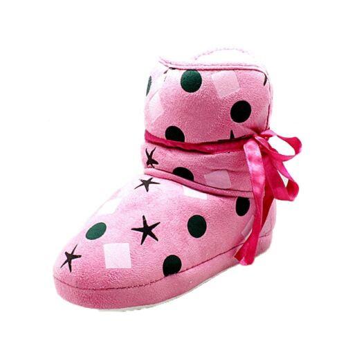 Rosa a Pois SOFFICI Foderato Pantofola Stivali per bambini-gioco