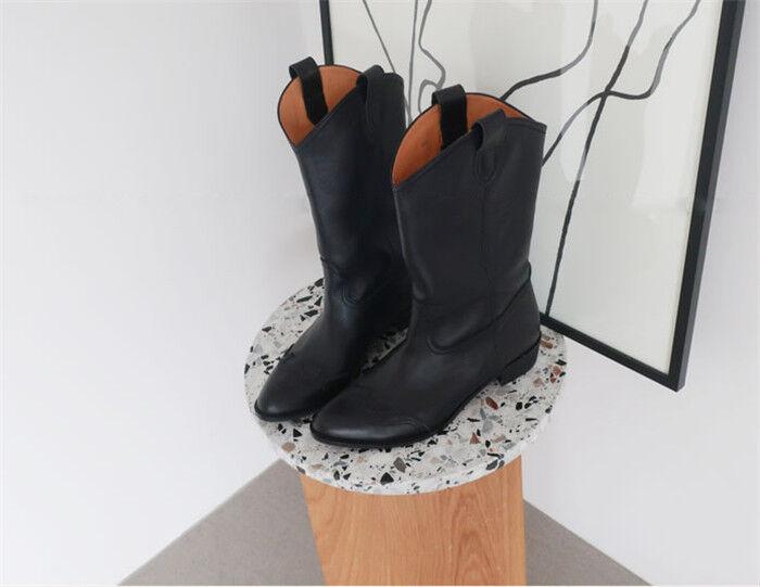 Reino Unido para para para Mujer tipo Botines de Cuero Vintage Plana Señoras Botines Chelsea Casual de montar a caballo 4be1df