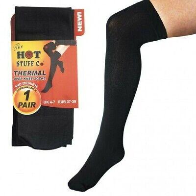 Ladies SK189 Pack Of 2 Thermal Knee High Socks By Heatguard Retail Price £2.99