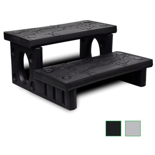 vidaXL Spa Steps Non-Slip Reversible Multipurpose Outdoor Patio White//Black✓