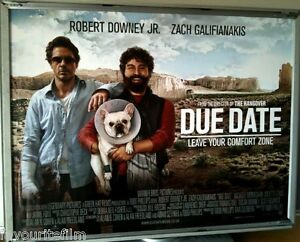 Cinema Poster Due Date 2010 Quad Robert Downey Jr Zach Galifianakis Ebay
