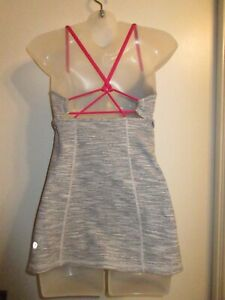 Lululemon-Athletica-6-Strappy-Dancing-Warrior-Tank-Top-Straps-Yoga-Run-Gym-Gray