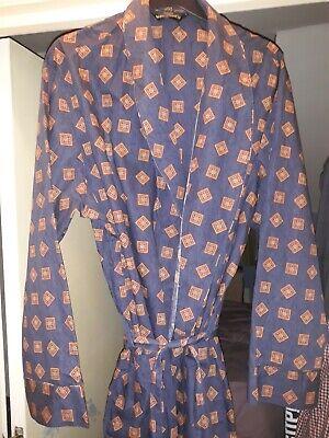Utile Vintage St Michael M & S Blu Cotone Vestaglia Xl Circonferenza Petto 44 - 46 Usato-mostra Il Titolo Originale
