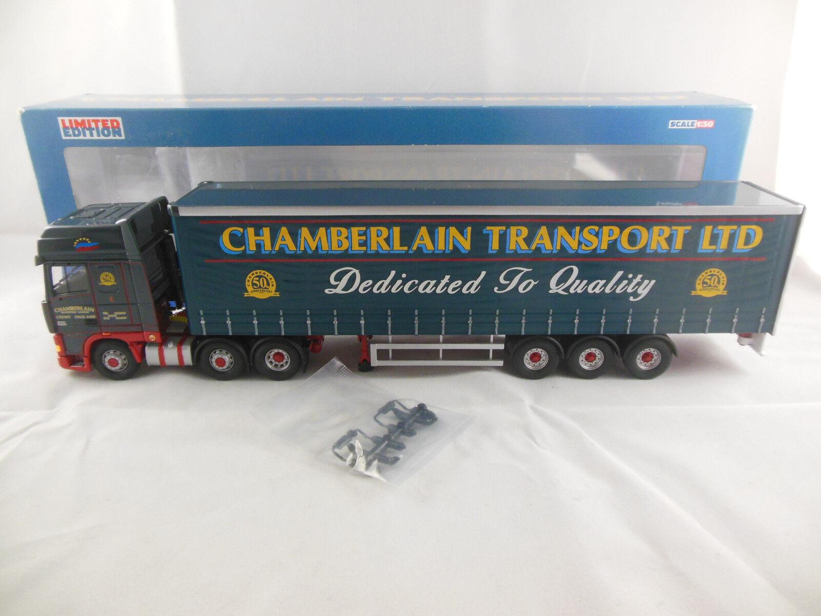CORGI CC13225 daf xf super space cab curtainside Chamberlain Transport LTD