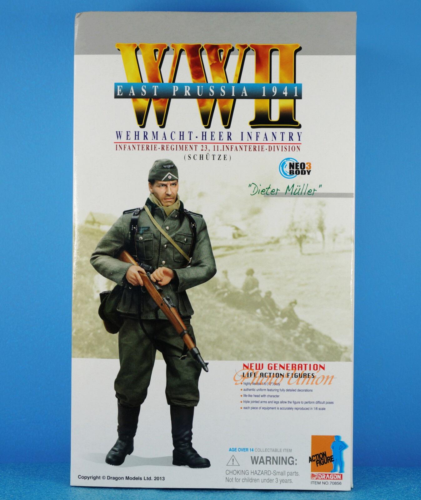 DRAGON 1 6 FIGURE 12  WW2 German Prussia Infantry Wehrmacht Heer Sniper 70856