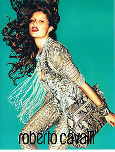 PUBLICITE ADVERTISING  2011   LAETITIA CASTA pour ROBERTO CAVALLI  haute couture