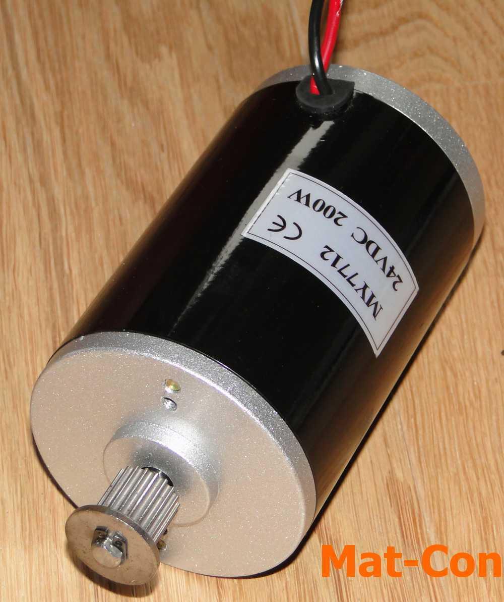 DC SPAZZOLE E-Motor my7712 zy7712 200w 24v 0,55nm 3500u/min PULEGGIA m3