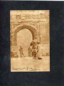 Postcard-View-Of-Church-Gate-Canterbury-Kent-Stamp-Postmark-1904