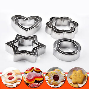 6Pcs Plastic Cookie Scone Cutters Crinkle Round Cake Pastry Baking Mold Set DIY