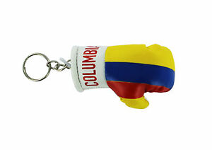 Keychain Mini boxing gloves key chain ring flag key ring cute colombia colombian