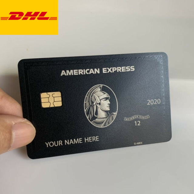 Collect Amex Black Card Customizable American Express Centurion Metal Black Card