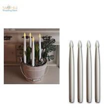 4er Set LED Stabkerzen 29cm hoch, Kerzen flackernd, Stab-Kerze flammenlos LEDs
