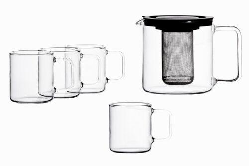 Bohemia Cristal 5 piezas Juego de té