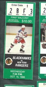 1986-10-15-ticket-stub-New-York-Rangers-v-Chicago-Blackhawks-Chicago-Stadium