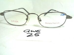 New X Flex Eyeglasses Frame Memory Titanium Gunmetal Apple Japan Small Qwe 25 Ebay