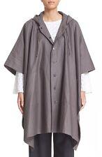 NWT Eskandar ELEPHANT Hooded Button-Front Raincoat Poncho Jacket (0) $1095
