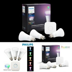 Details about Philips Hue 3 0 Starter Kit White Colou Ambience Wireless LED  Lighting 🔥