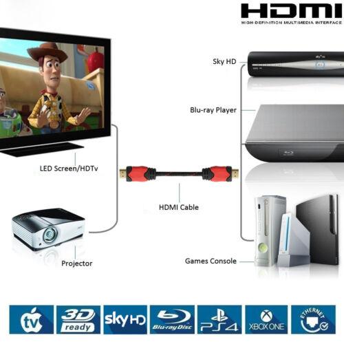 HDMI Cable v1.4 Ultra HD 1080p Ethernet 3FT 6FT 10FT 15FT 25FT 30FT 1-10 Pack