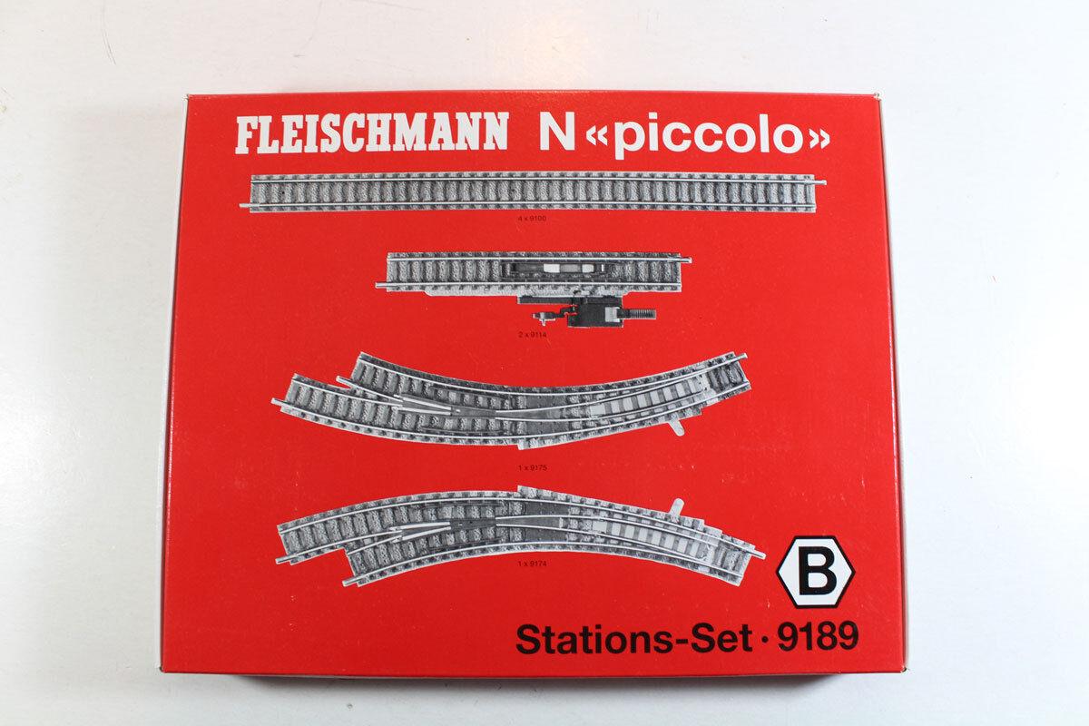 Fleischmann 9189 Spur N Gleis-Set, Gleis-Set, Gleis-Set, Stations-Set B. Neuware in OVP.  | Berühmter Laden  b362bb