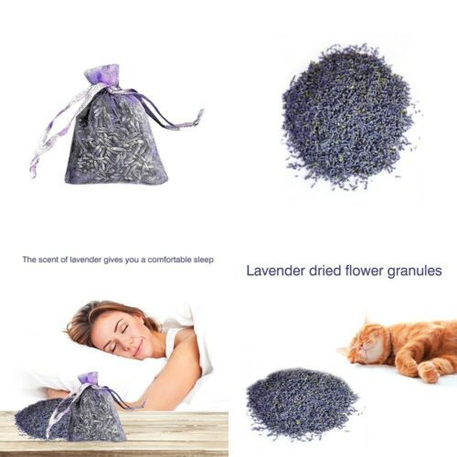 12 Bags of Dried Lavender in Small Lilac Organza Bags Real Flower Wedding
