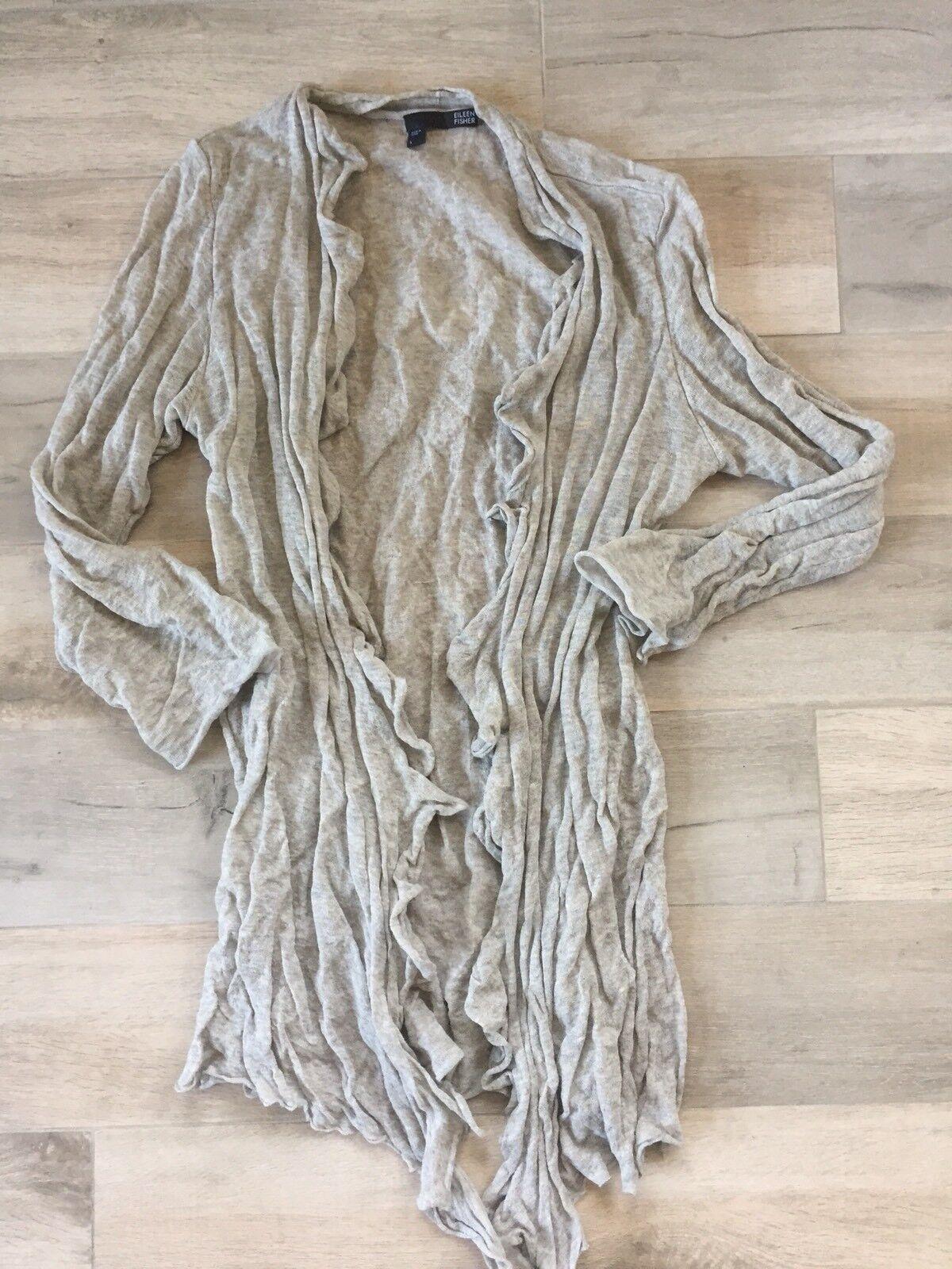 Eileen Fisher Cardigan Sweater- Grey- Large