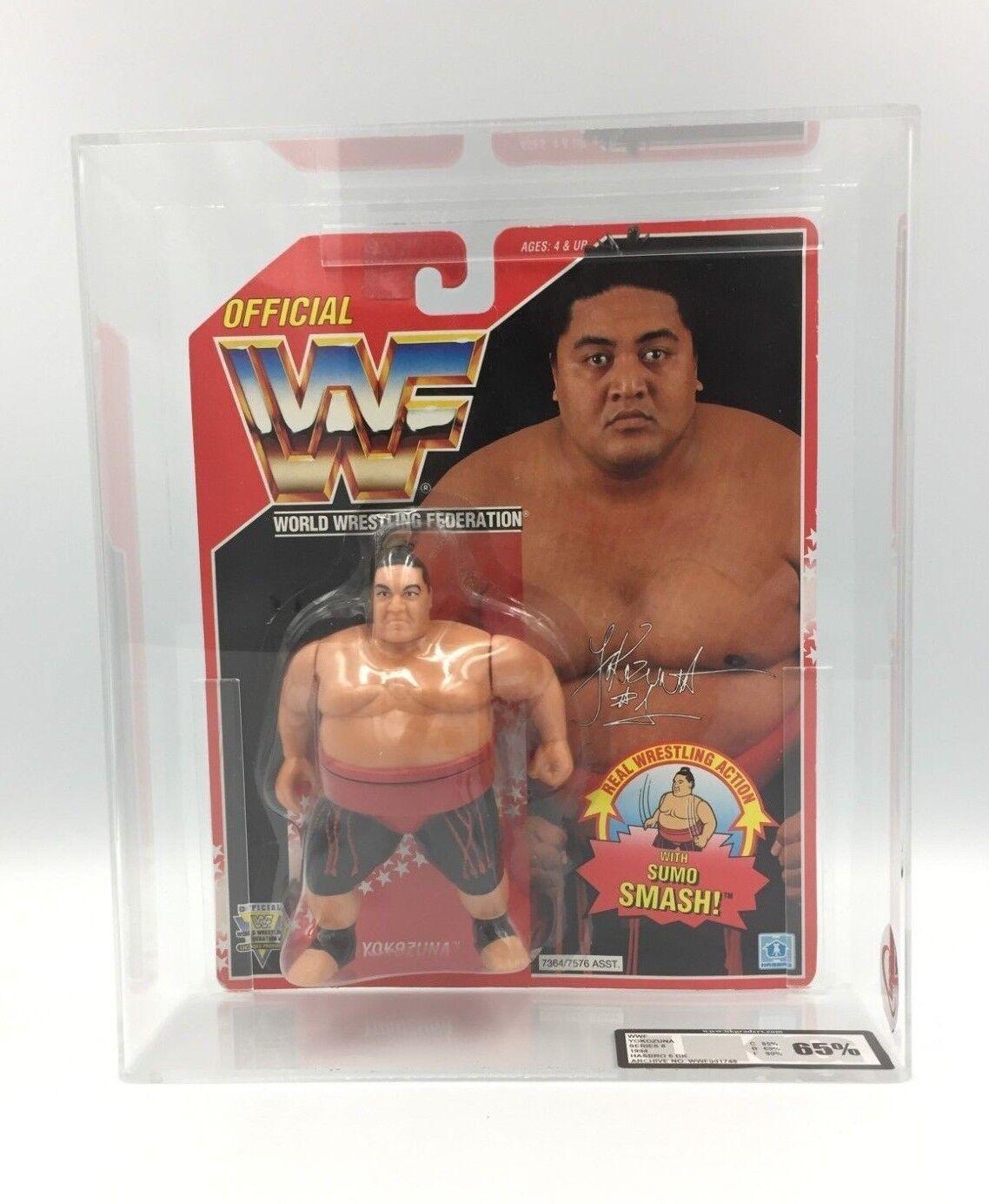 WWF Hasbro Yokozuna. Series 8 1994 ROT Carded UKG 65% not AFA Graded-RARE