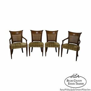 Image Is Loading Baker Furniture Vintage Set Of 4 Regency Style