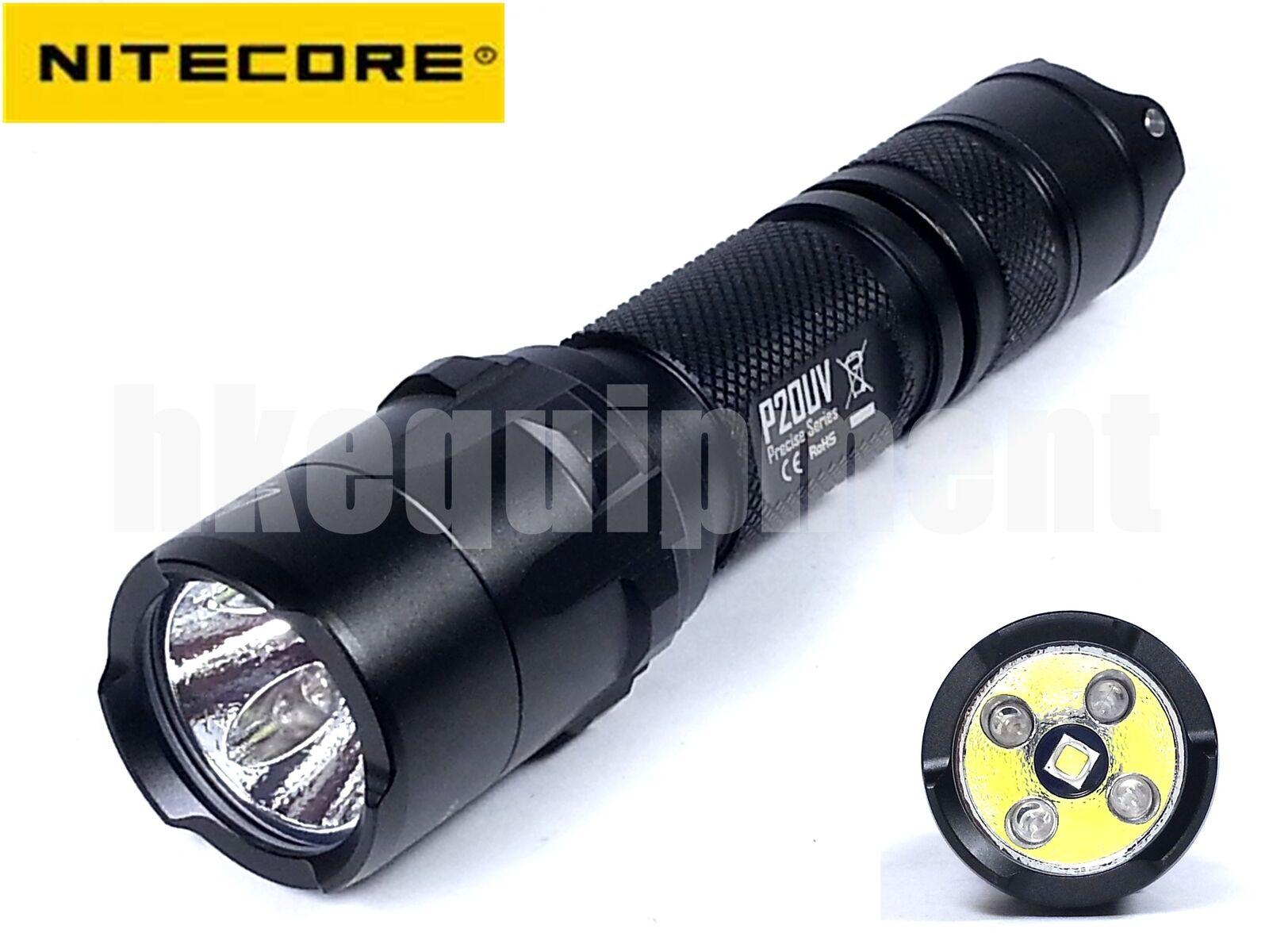 NiteCore P20UV Precise UV Ultralila 365nm Cree XM-L2 T6 LED Flashlight P20