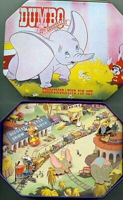 Disney Dumbo 55th Anniversary Commemorative Pin  set with tin of 6 Pin/Pins